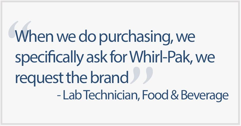 Customer satisfaction is success marker at Nasco Sampling, Whirl-Pak®